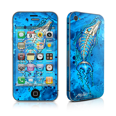 iPhone 4 Skin - Barracuda Bones