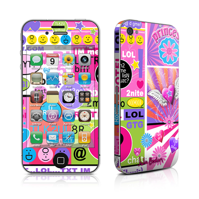 iPhone 4 Skin - BFF Girl Talk