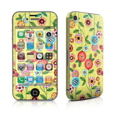 iPhone 4 Skin - Button Flowers