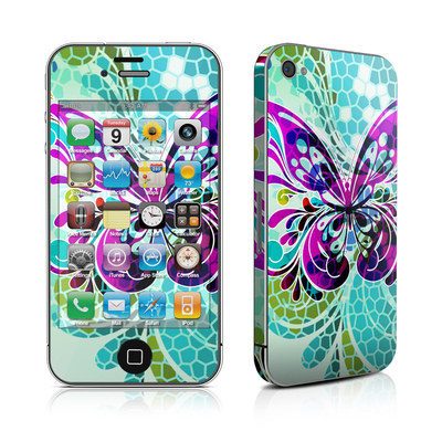 iPhone 4 Skin - Butterfly Glass