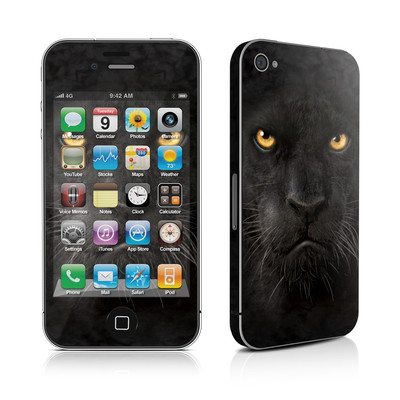 iPhone 4 Skin - Black Panther
