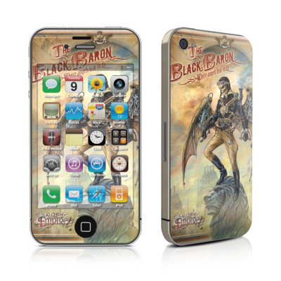iPhone 4 Skin - The Black Baron
