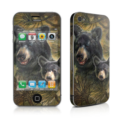 iPhone 4 Skin - Black Bears