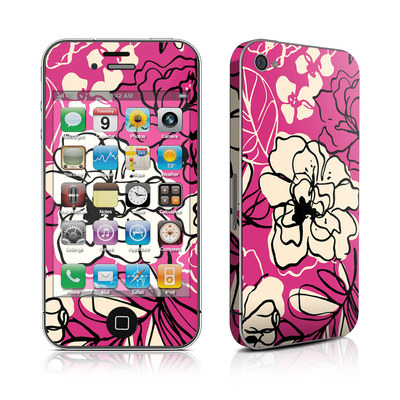 iPhone 4 Skin - Black Lily