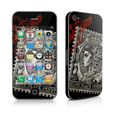 iPhone 4 Skin - Black Penny