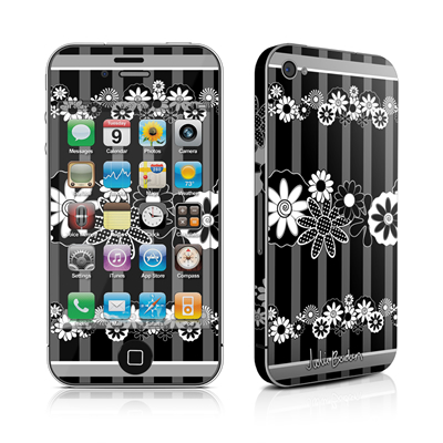 iPhone 4 Skin - Black Retro