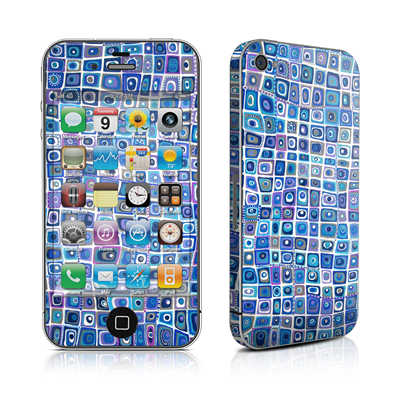iPhone 4 Skin - Blue Monday