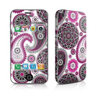 iPhone 4 Skin - Boho Girl Paisley
