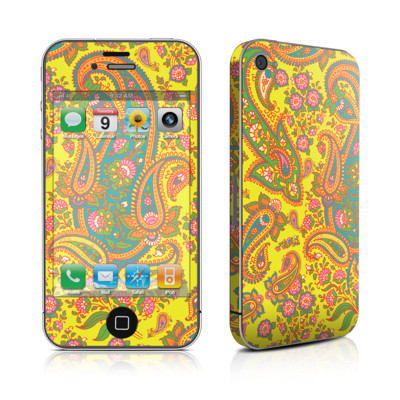 iPhone 4 Skin - Bombay Chartreuse