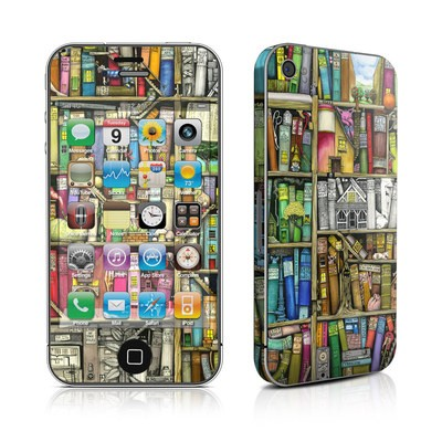 iPhone 4 Skin - Bookshelf