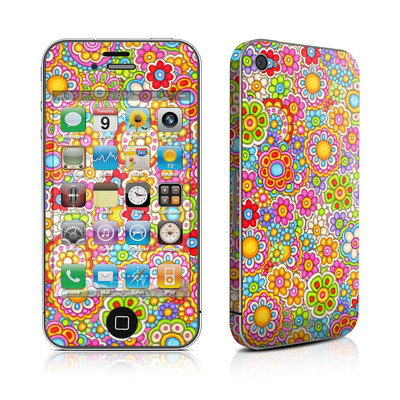 iPhone 4 Skin - Bright Ditzy