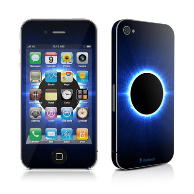 iPhone 4 Skin - Blue Star Eclipse