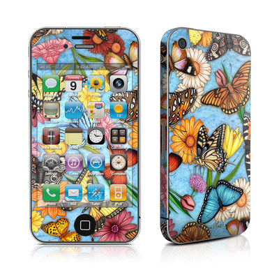 iPhone 4 Skin - Butterfly Land