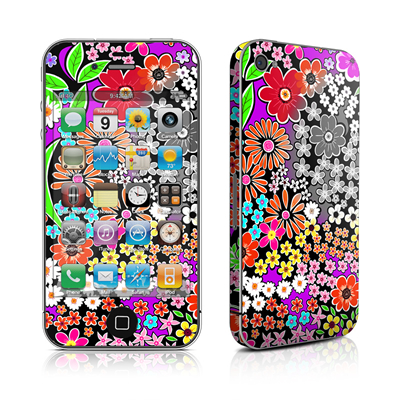 iPhone 4 Skin - A Burst of Color