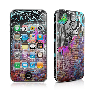 iPhone 4 Skin - Butterfly Wall