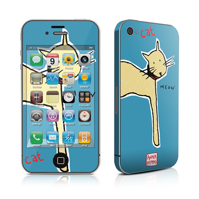 iPhone 4 Skin - Cat