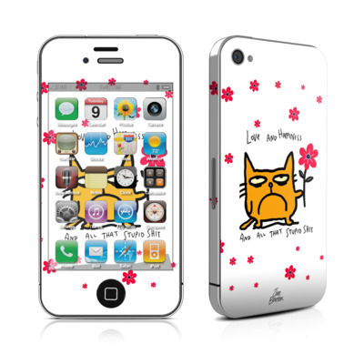 iPhone 4 Skin - Catwad Happy