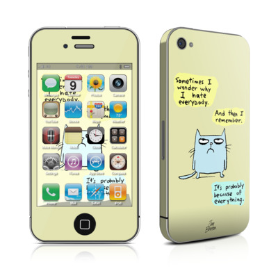 iPhone 4 Skin - Catwad Hate