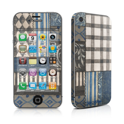 iPhone 4 Skin - Country Chic Blue