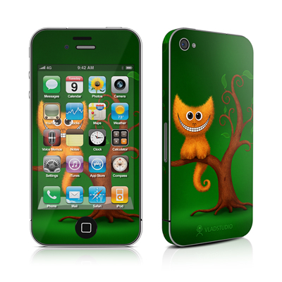 iPhone 4 Skin - Cheshire Kitten