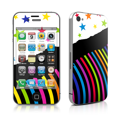 iPhone 4 Skin - Color Wave