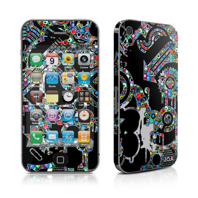iPhone 4 Skin - Circle Madness