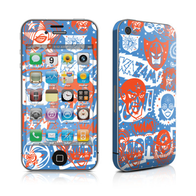 iPhone 4 Skin - Comic Hero