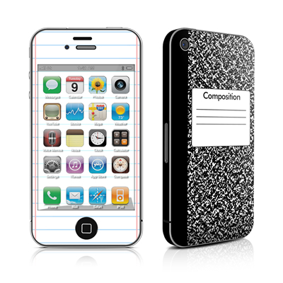 iPhone 4 Skin - Composition Notebook