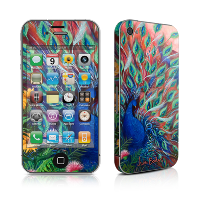 iPhone 4 Skin - Coral Peacock