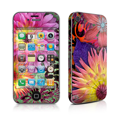 iPhone 4 Skin - Cosmic Damask