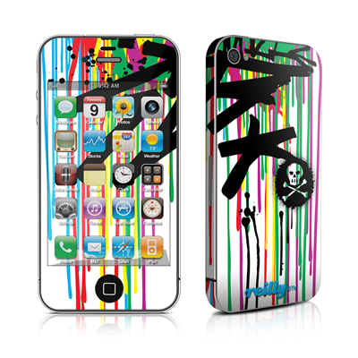 iPhone 4 Skin - Colour Rain