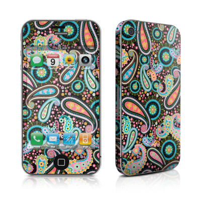 iPhone 4 Skin - Crazy Daisy Paisley