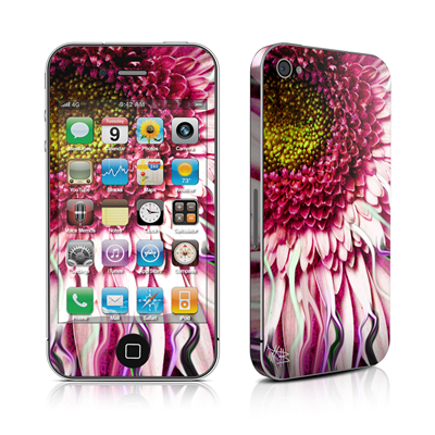 iPhone 4 Skin - Crazy Daisy