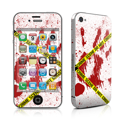 iPhone 4 Skin - Crime Scene Revisited