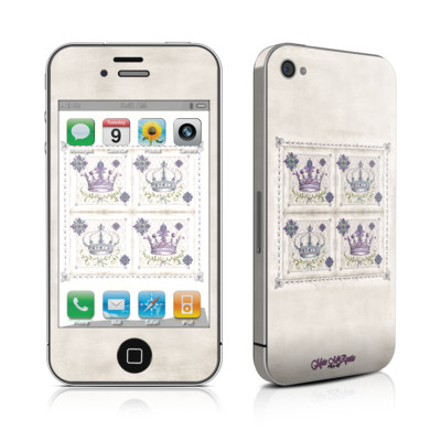 iPhone 4 Skin - Purple Crown