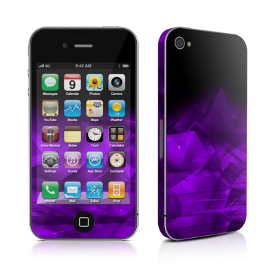 iPhone 4 Skin - Dark Amethyst Crystal
