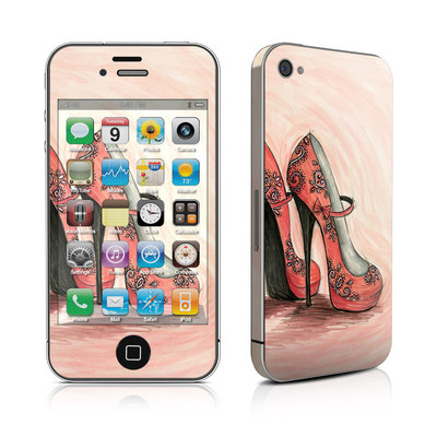 iPhone 4 Skin - Coral Shoes