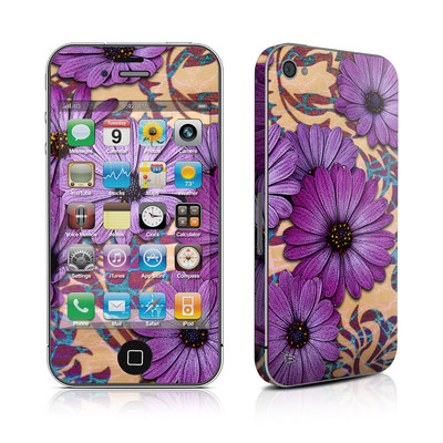iPhone 4 Skin - Daisy Damask
