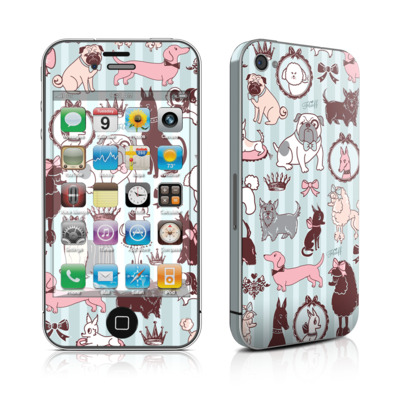 iPhone 4 Skin - Doggy Boudoir