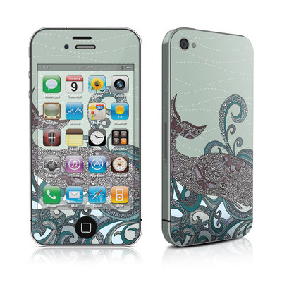 iPhone 4 Skin - Deep Blue Me