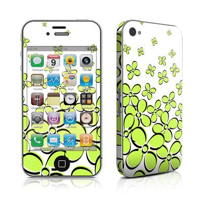 iPhone 4 Skin - Daisy Field - Green