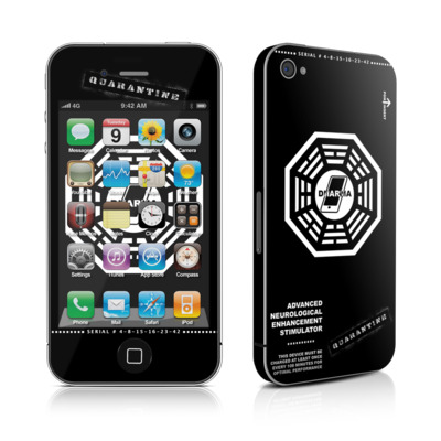 iPhone 4 Skin - Dharma Black