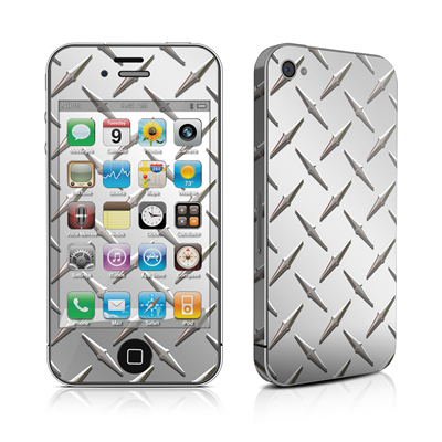 iPhone 4 Skin - Diamond Plate