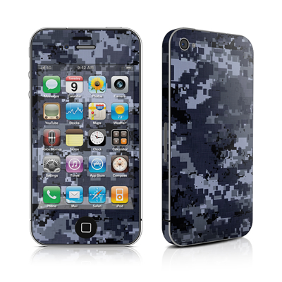 iPhone 4 Skin - Digital Navy Camo