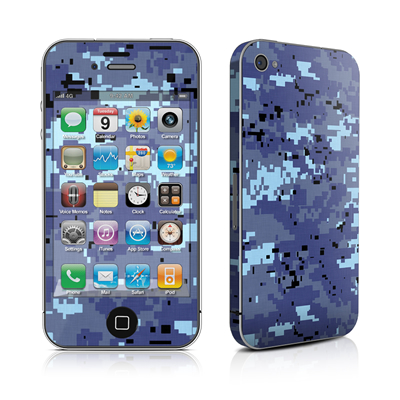 iPhone 4 Skin - Digital Sky Camo
