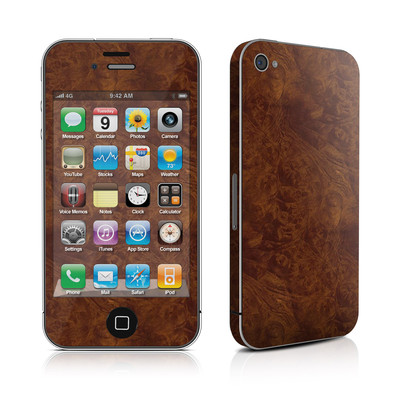 iPhone 4 Skin - Dark Burlwood