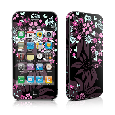 iPhone 4 Skin - Dark Flowers