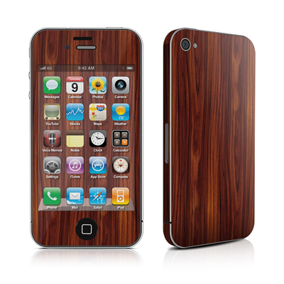 iPhone 4 Skin - Dark Rosewood