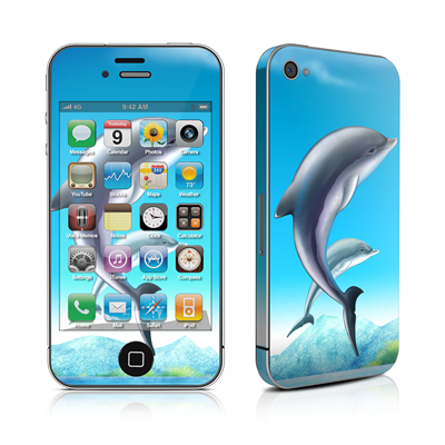 iPhone 4 Skin - Dolphins