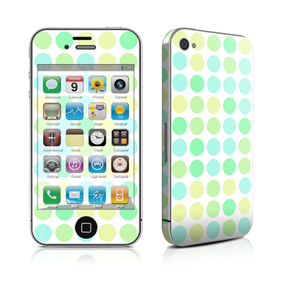iPhone 4 Skin - Big Dots Mint